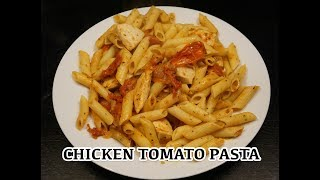Garlic Chicken Tomato Pasta Recipe - Simple n Easy