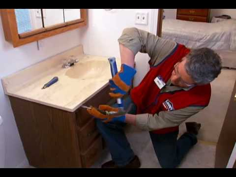 How to replace a vanity and sink youtube - How to install a bathroom vanity ...