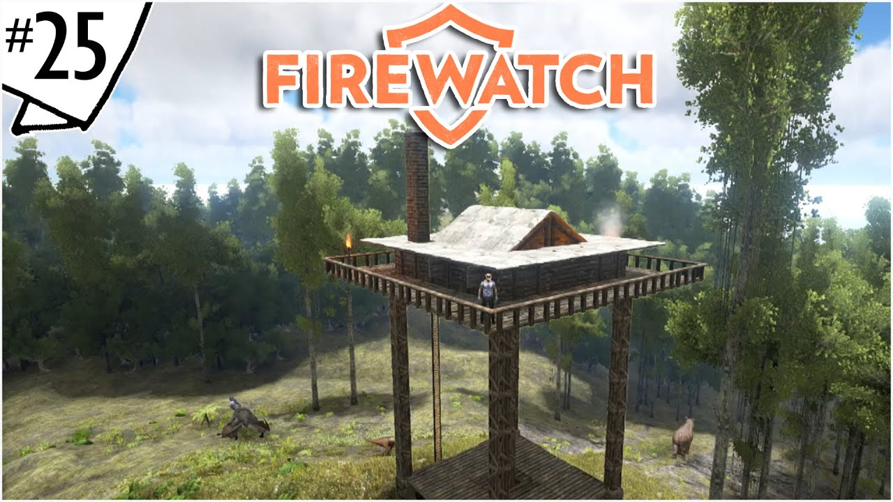 Firewatch tower building tutorial ep 25 ark for Building a lookout tower
