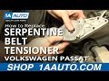 How To Install Replace Engine Serpentine Belt Tensioner Volkswagen Passat 1.8T 98-05 1AAuto.com