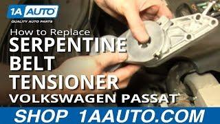 How To Install Replace Engine Serpentine Belt Tensioner Volkswagen Passat 1.8T 98-05 1AAuto.com