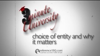 Choice of Entity: Your Options and Why They Matter