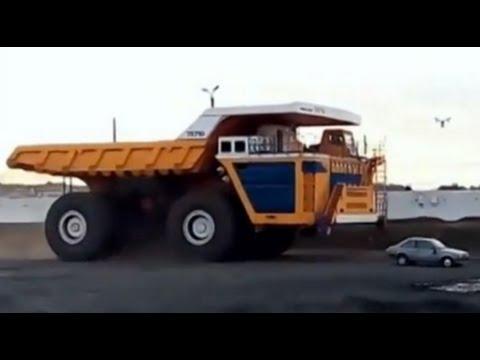 Utter Destruction! 500-Ton Dump Truck Versus Passenger Vehicle