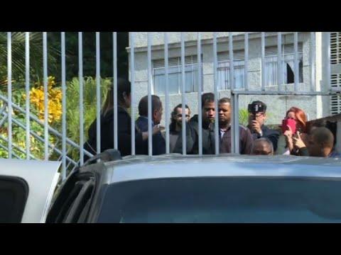 Venezuela's Guaido leaves Marrero's house after arrest