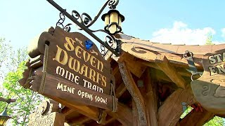 FULL Seven Dwarfs Mine Train experience with multi-angle POV ride, queue, characters and more