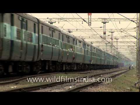 Train carrying passengers