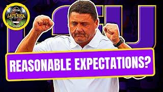 Lsu Football: Reasonable Expectations In 2020?  Late Kick Cut