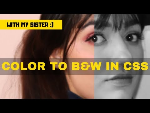 How To Change COLOR Image To BLACK & WHITE Using CSS Only | No Photoshop