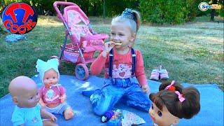 Кукла Беби Борн и девочка Ярослава в Парке на Пикнике Baby Born Doll on a Picnic