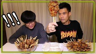 แดกเรียบ! ... หมูปิ้ง 100 ไม้ + ข้าวเหนียว 20 ห่อ | Thai Pro Eater