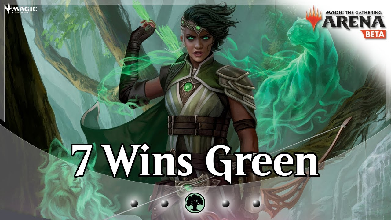 The Color Challenge - Ep  2 - Mono Green Elf Aggro - MTG Arena Deck Guide  and Gameplay
