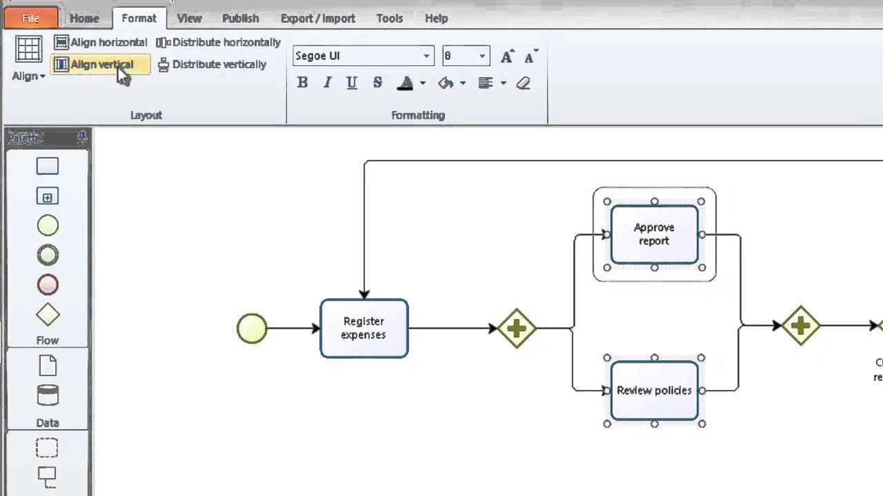 bizagi modeler tutorial how to model your first business process using bpmn youtube [ 1280 x 720 Pixel ]