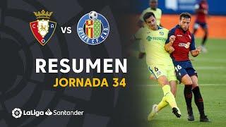 Resumen de CA Osasuna vs Getafe CF (0-0)