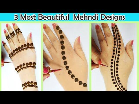 Top 3 Most Beautiful Mehndi Design from Dots - आसान गोल टिक्की मेहँदी डिज़ाइन लगाएं - Easy Mehandis