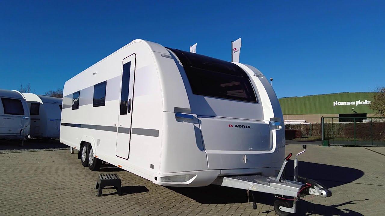 ADRIA Alpina 753 HK 2021 - Leder Mathisse im XXL Wohnwagen mit Doppelachse