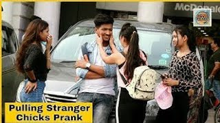 Pulling stranger cheeks on hot girl || Prank Video - KKC Production | Dileep Rathour