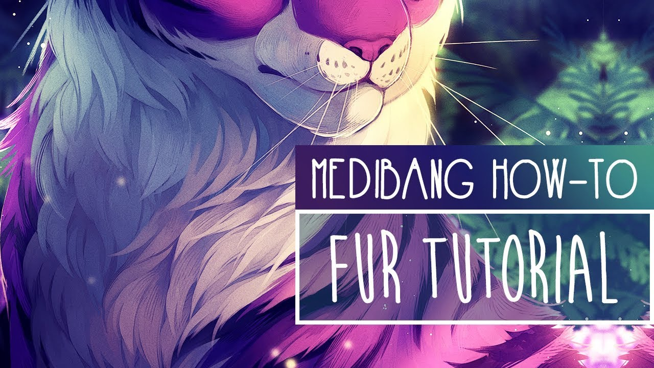 How to PAINT FUR | TUTORIAL | Medibang Paint Pro