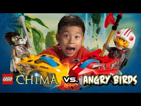 ANGRY BIRDS vs. LEGENDS of CHIMA! - LEGO Chi Battles Speedorz starter set Review set 70113