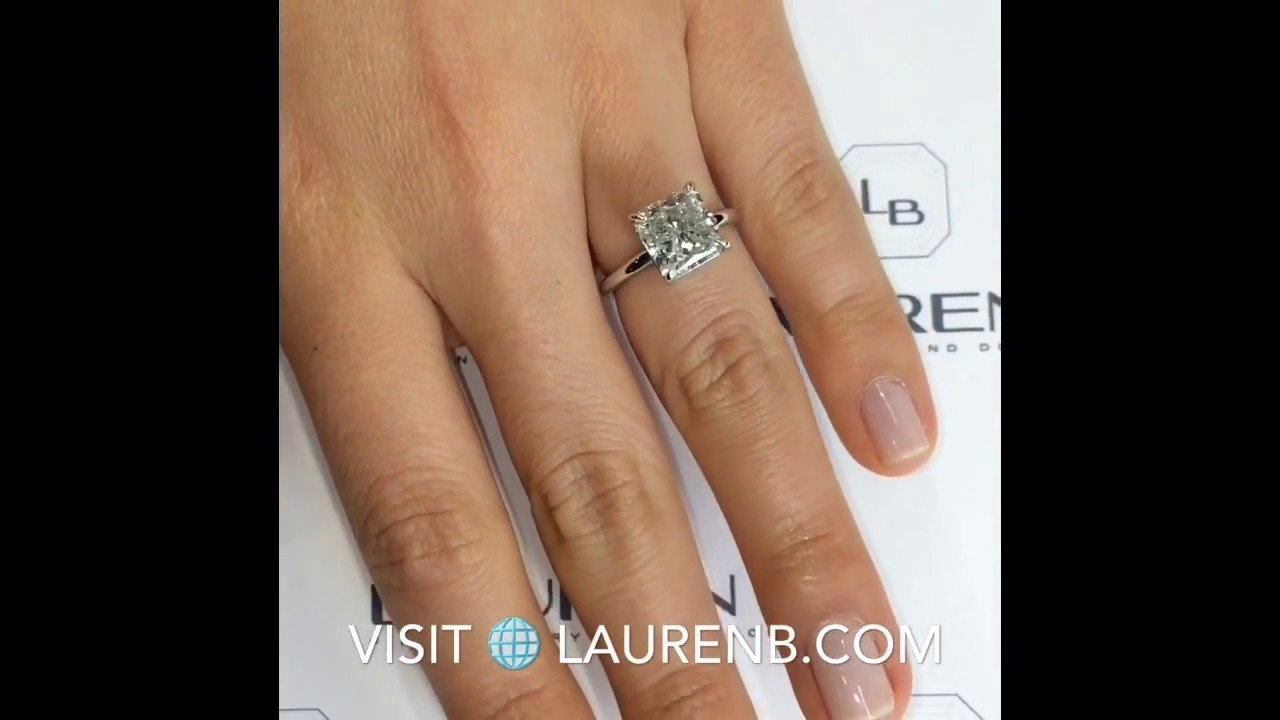 gold rings cathedral setting and cut radiant white squared engagement ring solitaire diamond shank edge in with