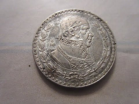 Mexican 1 Peso 1954 with 10 % Silver