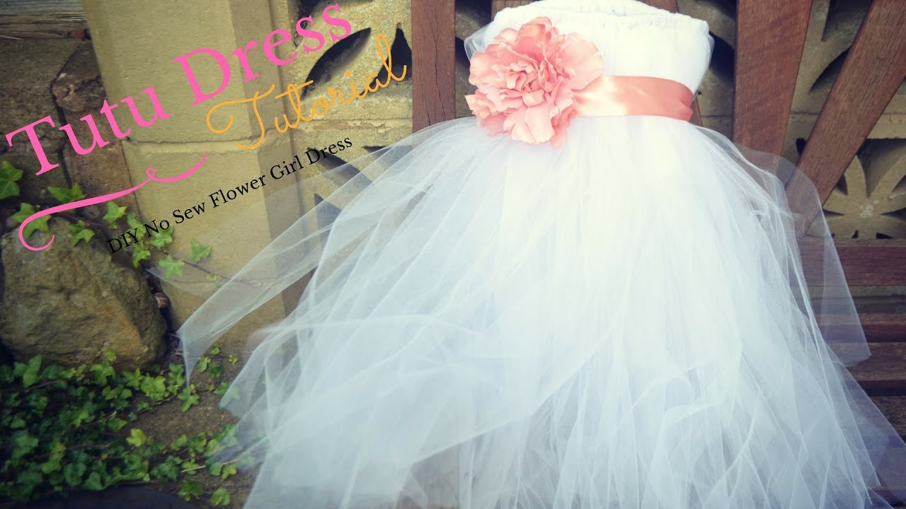 No Sew Tutu Dress Tutorial: Flower Girl Dress Ideas - YouTube