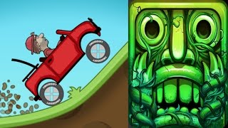 Hill Climb Racing*Cave*VS Temple Run2*Gameplay make for children #140