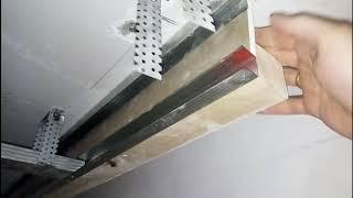 Монтаж навесного потолка, очередность монтажа.