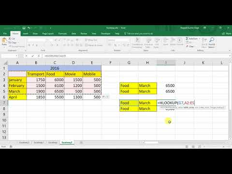 How can use Hlookup Instead of Vlookup and reverse in Excel