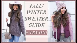 BEST SWEATERS FOR FALL + WINTER 2018 TRY-ON