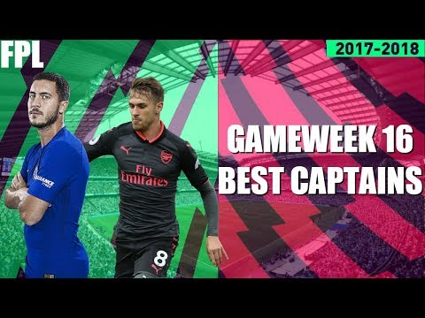 THE BEST CAPTAIN OPTIONS AHEAD OF GAMEWEEK 16! FANTASY PREMIER LEAGUE 2017/18! FPL