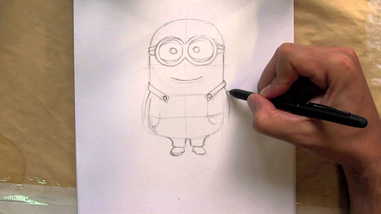 How to draw a minion from despicable me things to draw for Easy but good things to draw