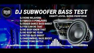 DJ SUBWOOFER BASS TEST - HONG WILAHENG BASS BOOSTED TERBARU FULL BASS