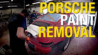 Removing Paint from a Porsche! Translog For Porsche Uses the Contour SCT to Strip a Car - Eastwood