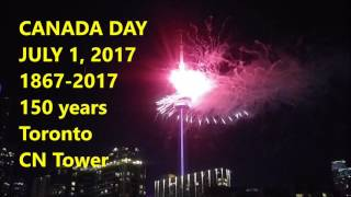 Canada 150 fireworks CN Tower July 1 2017