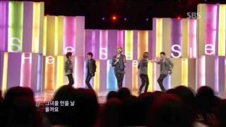 SHINee - Hello (SHINee - Hello) @ SBS Inkigayo Popular song 101003