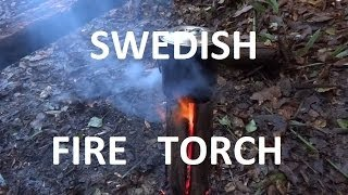 bushcraft challenge swedish fire torch lesson learned