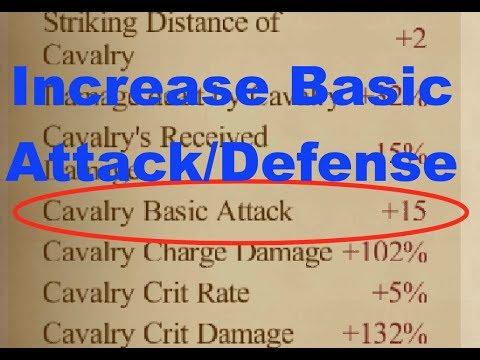 Clash Of Kings : Increasing Basic Attack/Defense