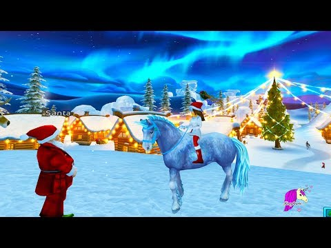 Color Changing Ice Unicorn ! Buying New Star Stable Horse in Christmas Snow Village - Roleplay Video