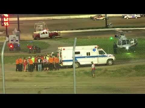 Track Crew member transported by helicopter from Eagle Raceway