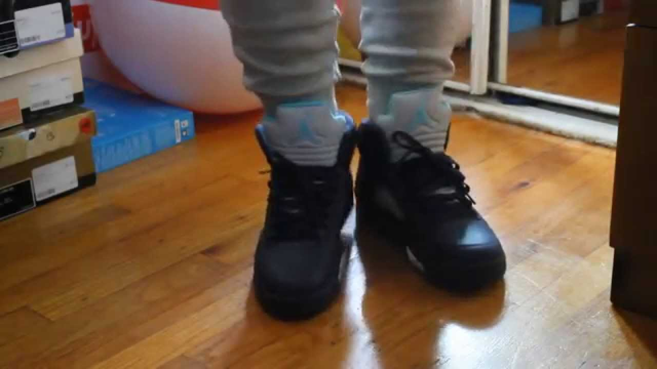 Air Jordan 5 Pre-Grape On feet - YouTubeJordan Grape 5 Black On Feet