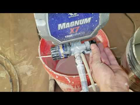 Graco X7 Magnum Spray Gun HOW TO