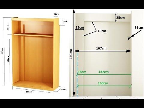 Como hacer un armario empotrado entre paredes youtube for Como hacer un perchero de pared