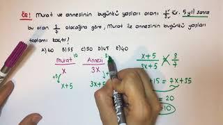 Yaş Problemleri Video Anlatım MATEMETRİ ,Matematik Ders Videoları