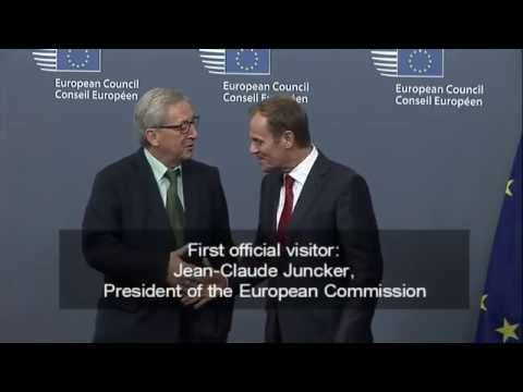 Donald Tusk: first day in office as European Council President