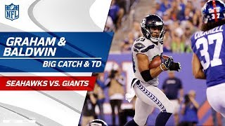 Russell Wilson's Big Throws to Graham & Baldwin on TD Drive! | Seahawks vs. Giants | NFL Wk 7