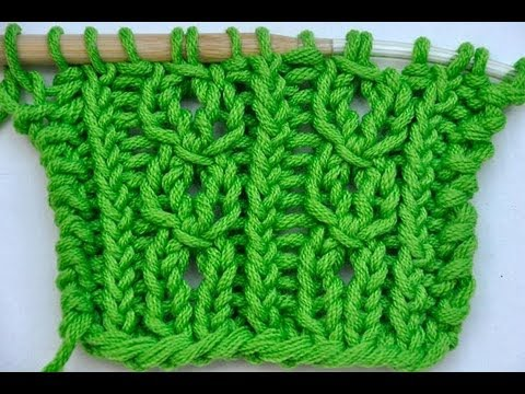 How to Knit * Lace stitch cablelike * Knitting stitch, cable stitch ...