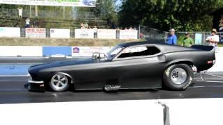 Nitro methane Mustang runs 6.14