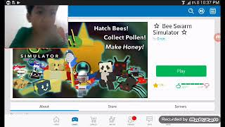 Roblox bee swarm simulator I want to play with my brother but my brother play zombie attack idw! It!