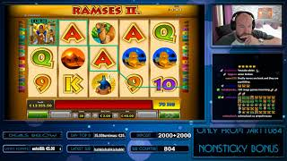 Big Bet!! Ramses II Slot Gives Mega Big Win!!