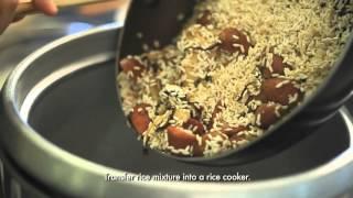 Roast Chicken With Shitake Rice Stuffing
